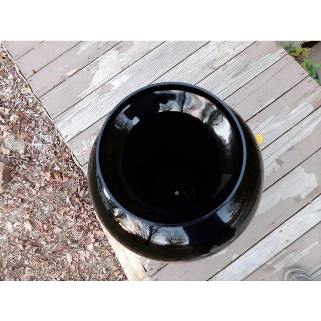 Vintage Pilgrim Masterwork Collection Black Art Glass Vase For Sale - Image 11 of 13