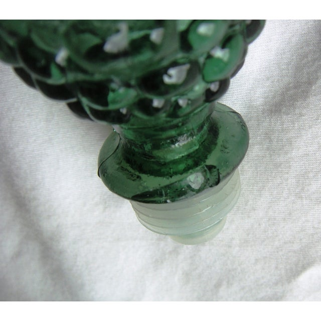 Vintage Dark Green Decanter with Bubble Motif For Sale - Image 7 of 7