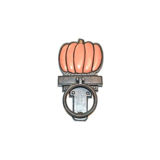 Autumn Pumpkin Door Knocker With Interchangeable Base For Sale