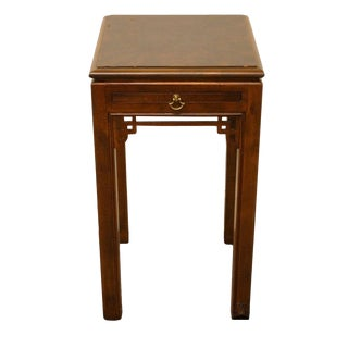 Drexel Chippendale Collection Square Chairside End Table