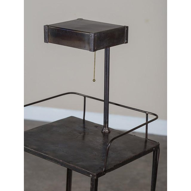 Vintage Industrial French Metal Cabinet with Light circa 1940 - Image 4 of 11