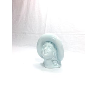 Art Deco Ceramic Lady & Hat Vase Preview