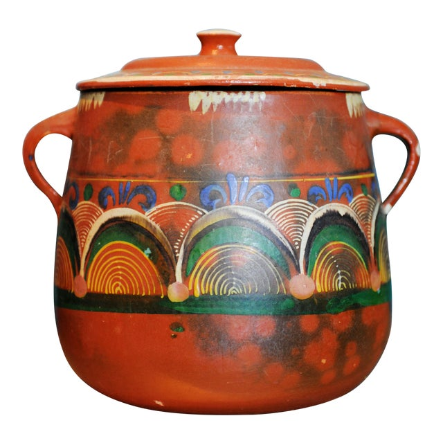 Vintage Tlaquepaque Mexican Clay Pot - Image 1 of 5
