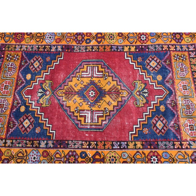 1980s Antique Nomadic Hand-Knotted Anatolian Carpet - 3′10″ × 5′9″ For Sale - Image 5 of 6