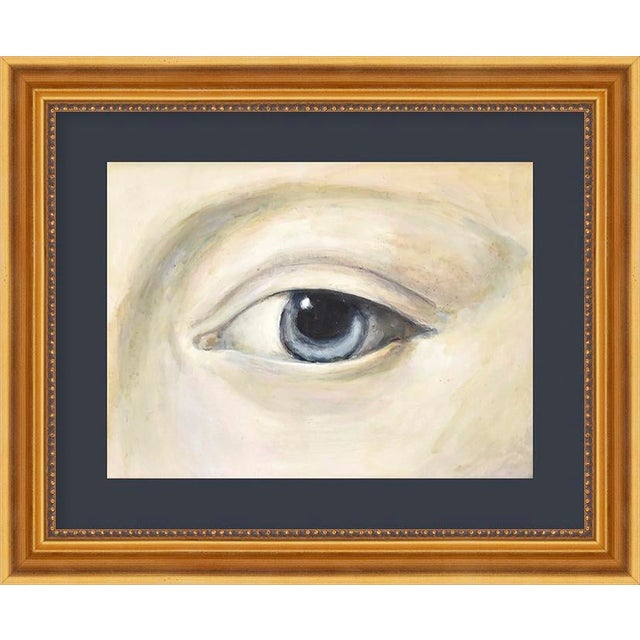 "Small ""Lover's Eye 4 With Navy"" Print by Susannah Carson, 12"" X 10"" For Sale"