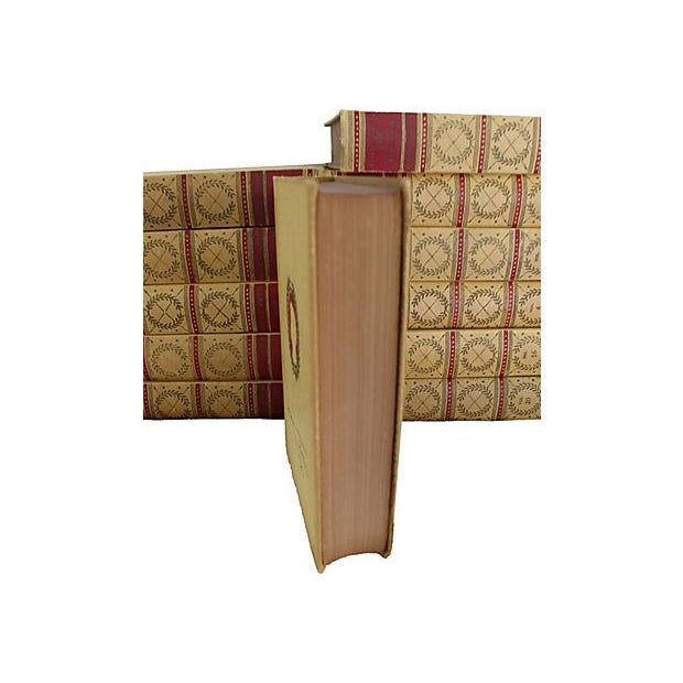 Set of 20 leather-bound books from the The Complete Works of Mark Twain, American Artist's series with color...