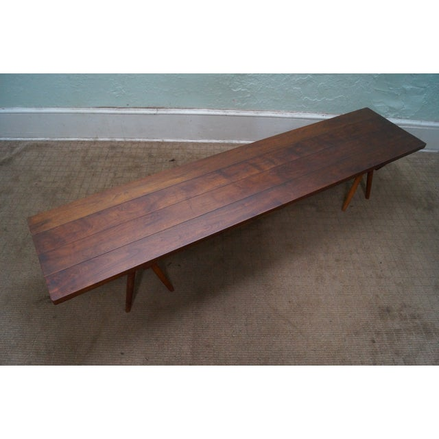 Studio Made Solid Walnut Long Low Table/Bench - Image 6 of 10