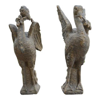 Pair of Sandstone Birds