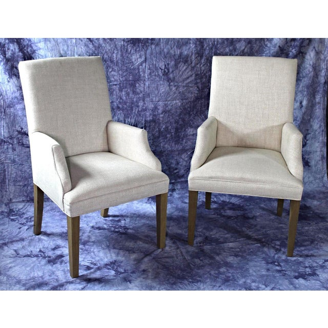 Modern Upholstered Armchairs - A Pair For Sale - Image 10 of 11