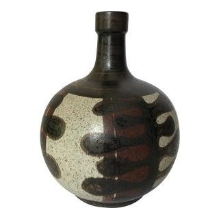 Mid Century Hand Painted Porcelain Vase