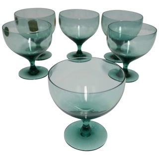 Set 6 Midcentury Modern Champagne Glasses by Designer Russel Wright, Ca. 1960s For Sale