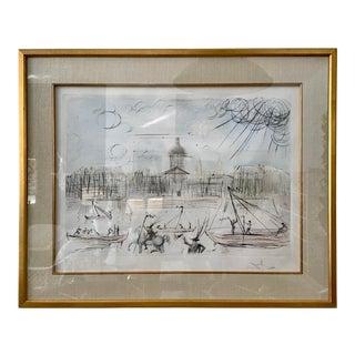 1960s Salvador Dali Venice Lithograph For Sale