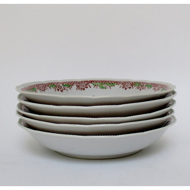 Japanese Mikori Bowls, Set of 5 For Sale - Image 4 of 9