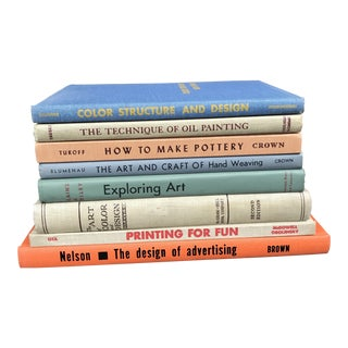 Mid-Century Modern Art & Design Hardback Coffee Table Books - Set of 8 For Sale