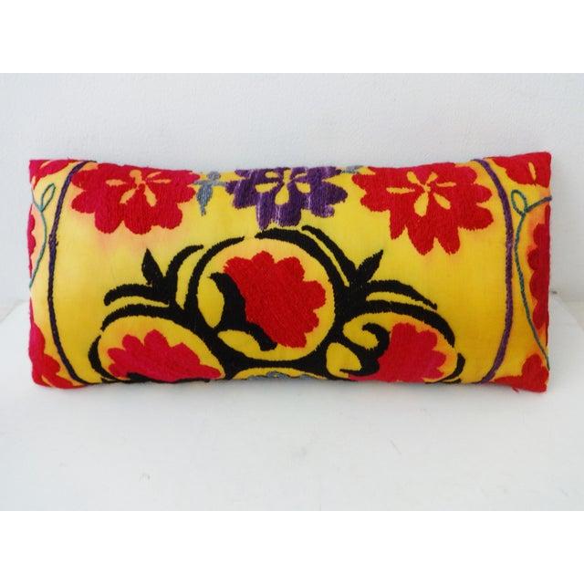 Antique Tribal Qashqa'i Fragment Lumbar Pillow - Image 2 of 8