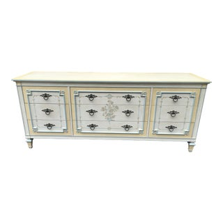 Johñ Widdicomb Shabby Chic Painted Nine Drawer Dresser For Sale