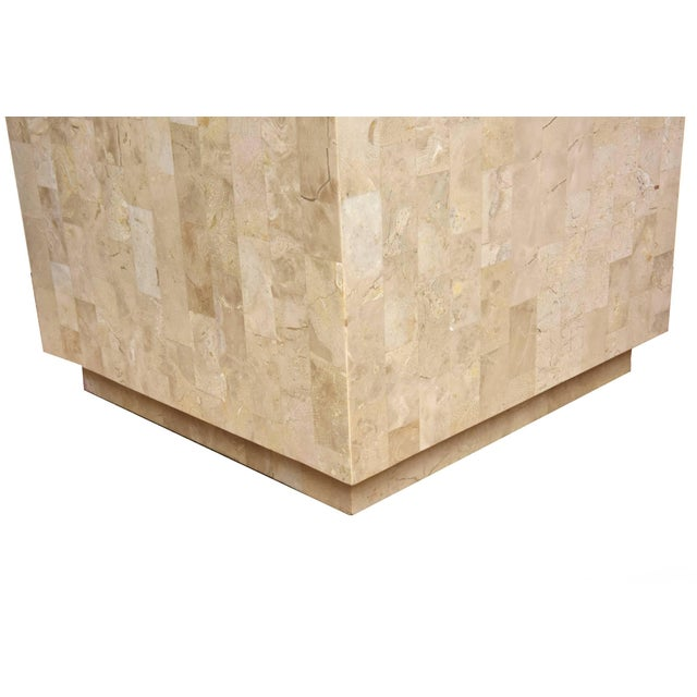 1970s 1970s Modern Maitland-Smith Tessellated Stone Cube Side Table For Sale - Image 5 of 9