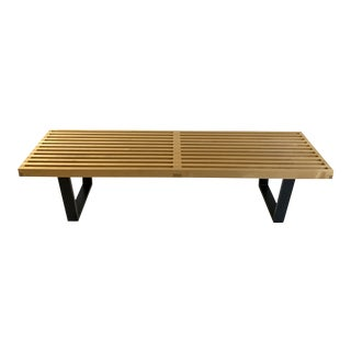 Modern George Nelson Slat Bench Herman Miller For Sale