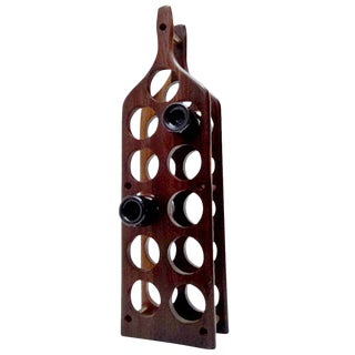 Mid-Century Modern Cocobolo Wine Rack For Sale