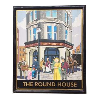 Vintage Round House London Pub Sign For Sale