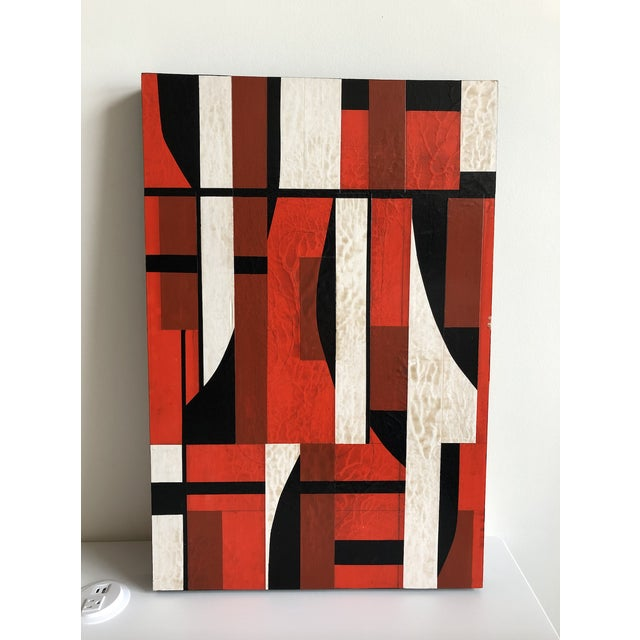 """Abstract Abstract """"Jamscape"""" Acrylic Painting on Wood by David Nelson Marks For Sale - Image 3 of 4"""