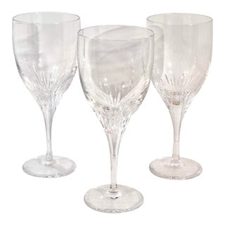 Atlantis Sonnet Hand Blown Usa Cut Crystal Water Glasses - Set of 3 For Sale