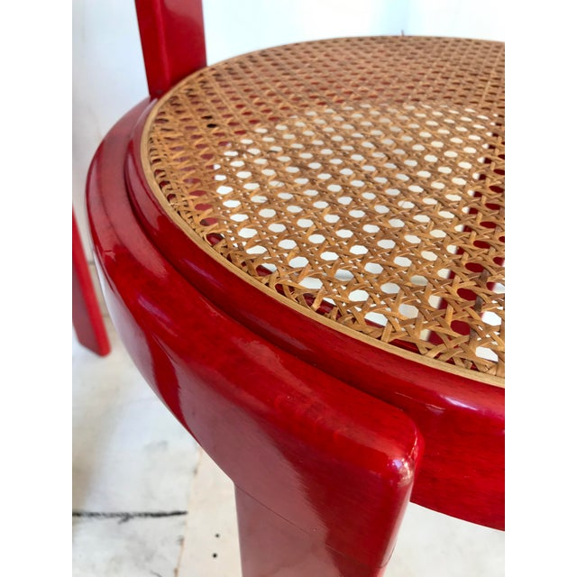 Vintage Italian Dining Chairs in the Manner of Scarpa For Sale - Image 10 of 12