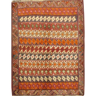 "Persian Shiraz Rug - 4'5"" X 5'10"""