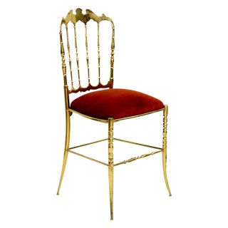 Italian Solid Brass Chiavari Chair For Sale