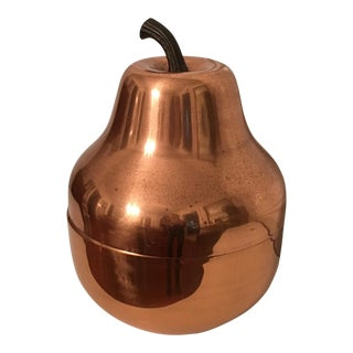 Mid-Century Copper Pear Ice Bucket