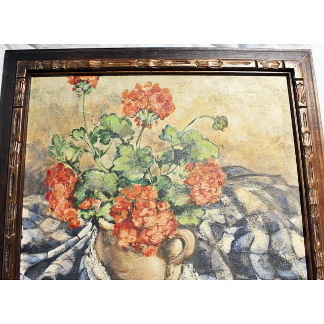 1950s Midcentury Impressionist Painting For Sale - Image 5 of 11
