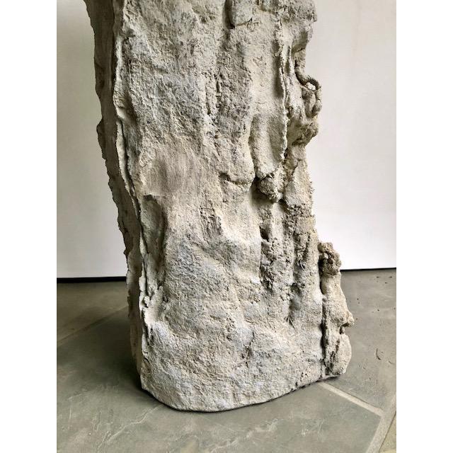 Contemporary Organic Modern Concrete Terrazzo Accent Table For Sale - Image 3 of 6