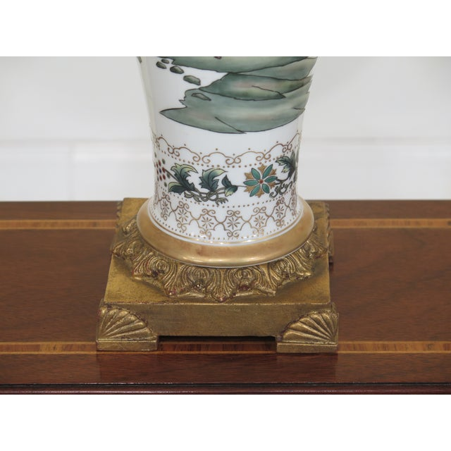 Ceramic Chelsea House Chinoiserie Decorated Porcelain Table Lamp For Sale - Image 7 of 11