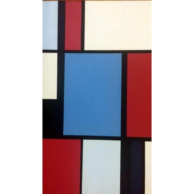 Florence Arnold MidCentury Hard Edge Oil Painting - Image 4 of 9