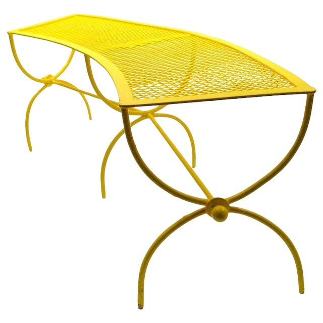 Curved Garden Patio Benches by Salterini Pair Available For Sale