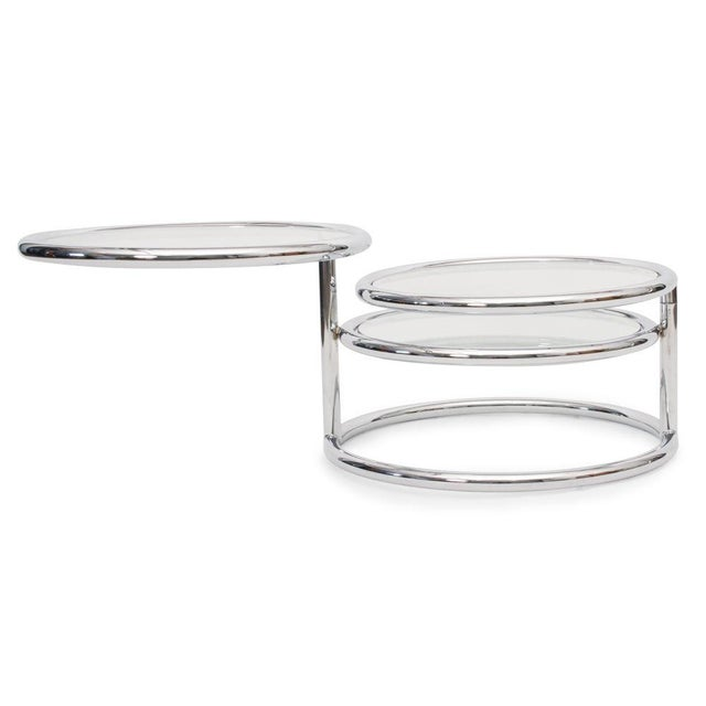 Convertible Chrome & Glass Cocktail Table after Pace For Sale In New York - Image 6 of 8