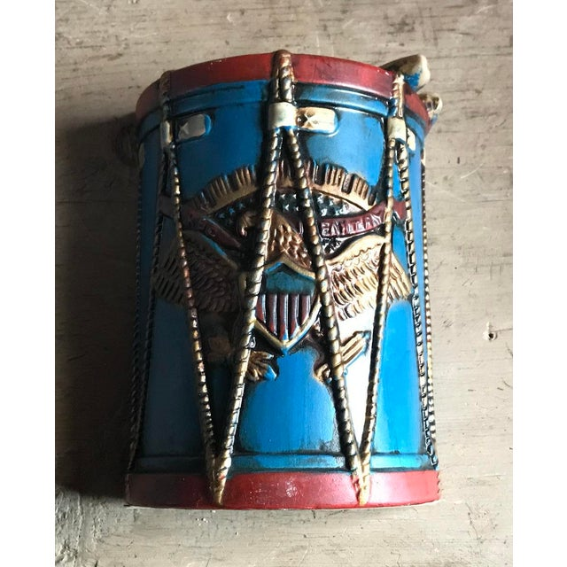 Patriotic Drum Bookends, Eagle Design, Vintage Lego Brand For Sale - Image 4 of 10