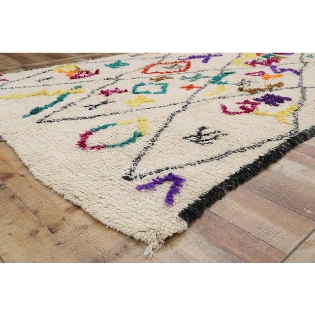 "Contemporary Berber Moroccan Azilal Rug - 6'3"" X 9'1"" For Sale In Dallas - Image 6 of 9"