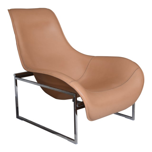 B&b Italia Leather Mart Chair For Sale