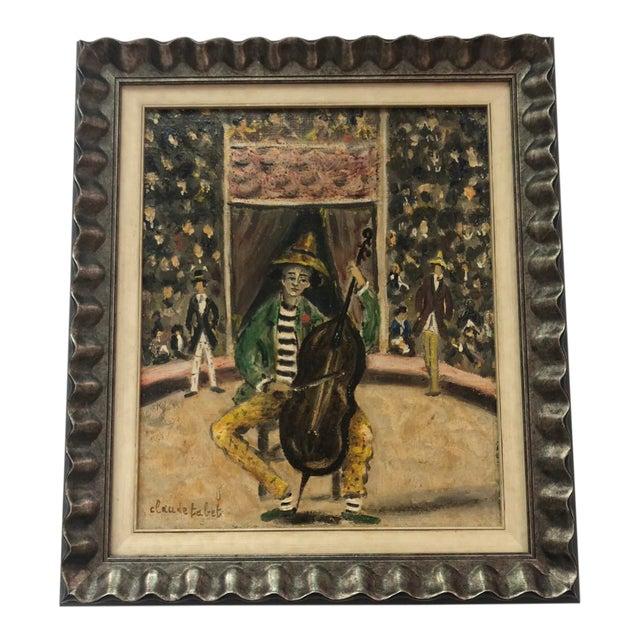 Original Antique Oil on Canvas by Claude Tabet For Sale