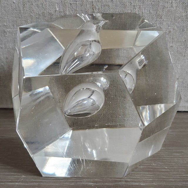 Glass Geometric Crystal Pen Holder Paperweight For Sale - Image 7 of 8