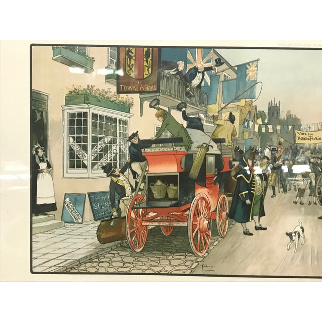 English Traditional Vintage Mid-Century British Election Day Lithograph Print For Sale - Image 3 of 8