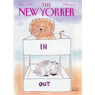 Vintage 1991 New Yorker Cover, March 11 (Arnie Levin), Seasons For Sale