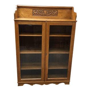 20th Century Oak Display Bookcase For Sale