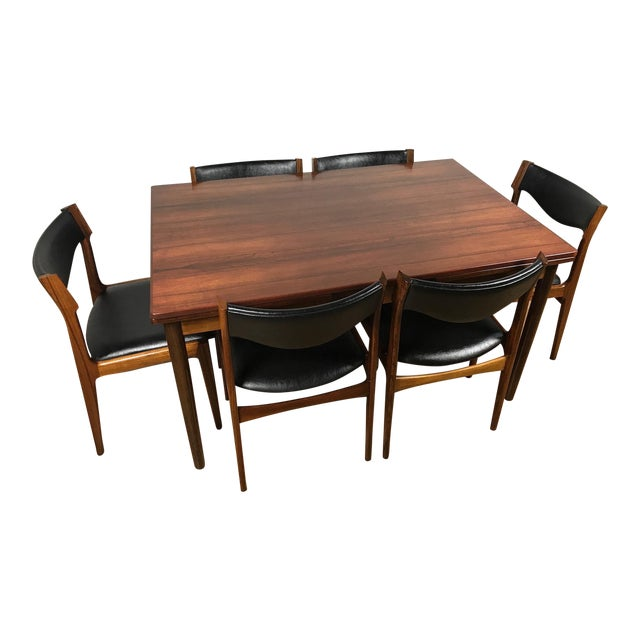 Mid-Century Danish Rosewood Dining Set - Image 1 of 11