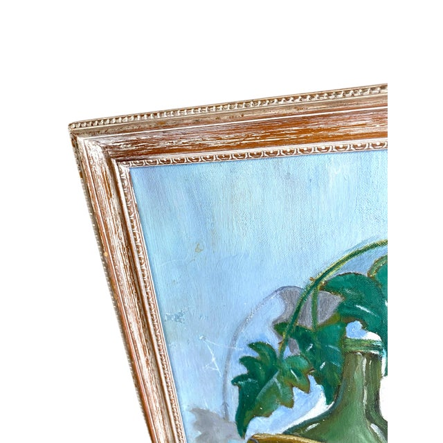 1960s 1960's Still Life Painting Oil on Canvas Framed and Signed For Sale - Image 5 of 10