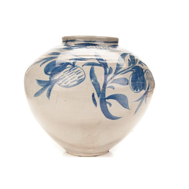 Antique Korean Blue & White Glazed Pot C.1920s - Image 5 of 9