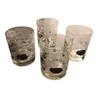 1960s Georges Briard Double Old Fashioned Glasses - Set of 4 For Sale