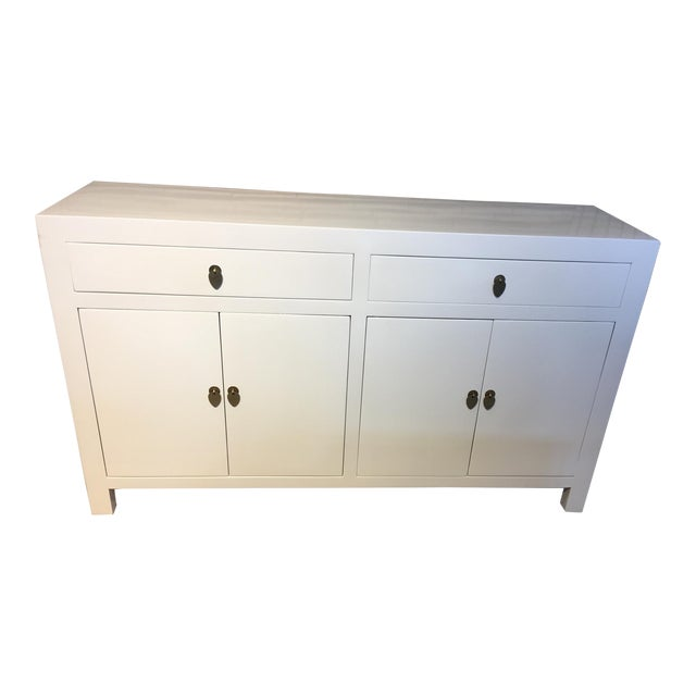 White Lacquered Asian Dresser - Image 1 of 3