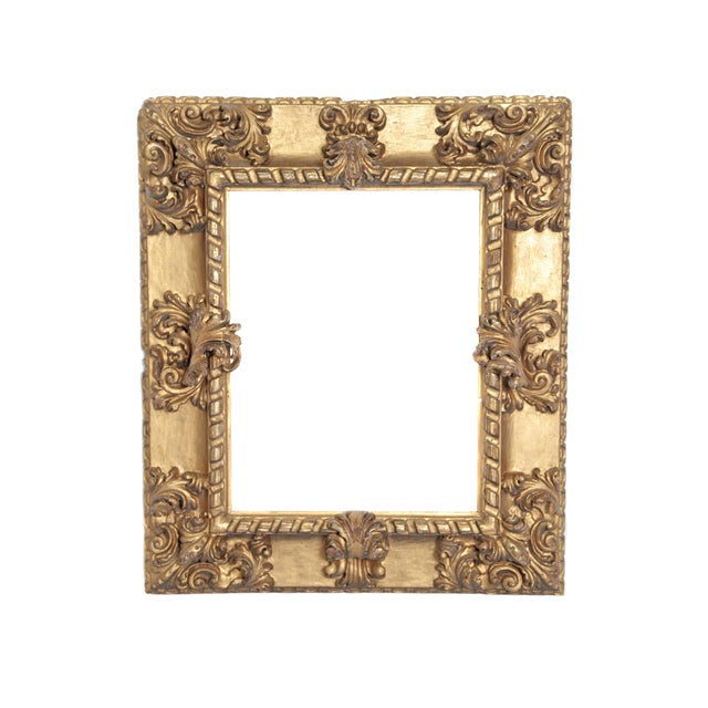 Rare 17th Century Giltwood Italian Picture Frame For Sale - Image 11 of 11